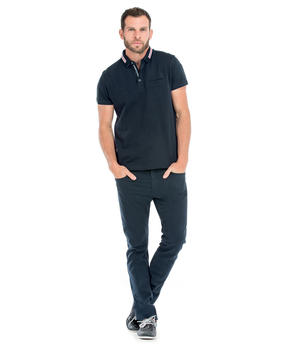 Polo manches courtes homme marine_1