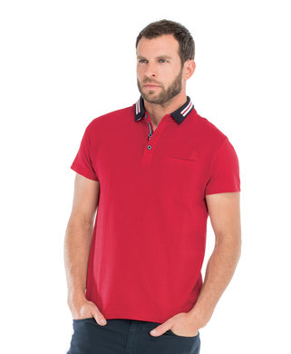 Polo manches courtes homme rouge piment - Mode marine Homme