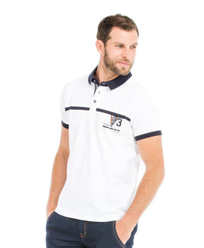 Polo manches courtes homme blanc - Mode marine Homme