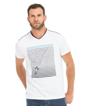 Tee-shirt manches courtes homme blanc - Mode marine Homme