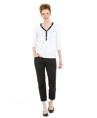 Polo manches longues femme blanc_1