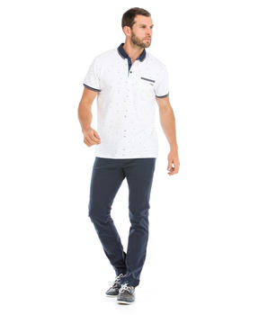 Polo manches courtes homme blanc_1