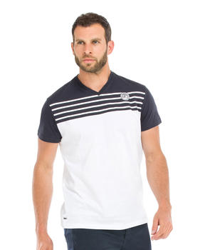 Tee-shirt manches courtes homme bicolore - Mode marine Homme