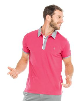 Polo manches courtes homme rose - Mode marine Homme