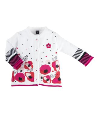 Cardigan bébé fille imprimé - Mode marine Destockage