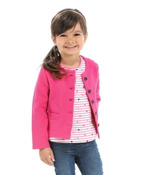 Cardigan enfant fille rose persan - Mode marine Enfant fille