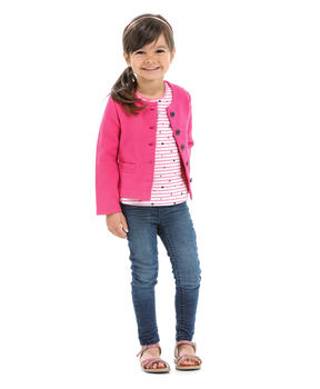 Cardigan enfant fille rose persan_1