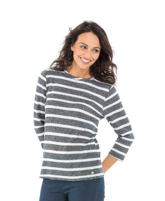 Pull manches 3/4 femme - Mode marine Sélections