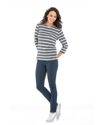 Pull manches 3/4 femme - Mode marine Femme
