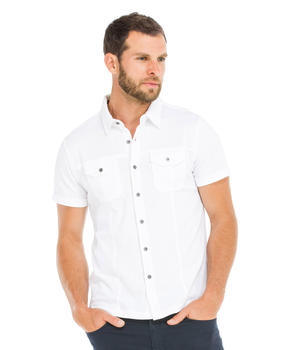 Chemise manches courtes homme blanche - Mode marine Homme