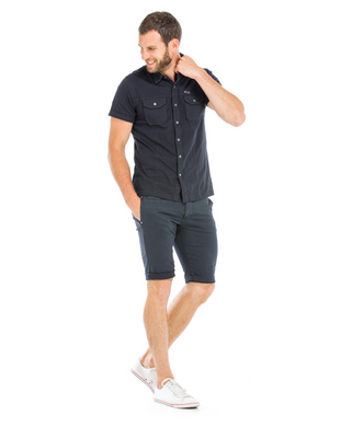 Chemise manches courtes homme marine_1