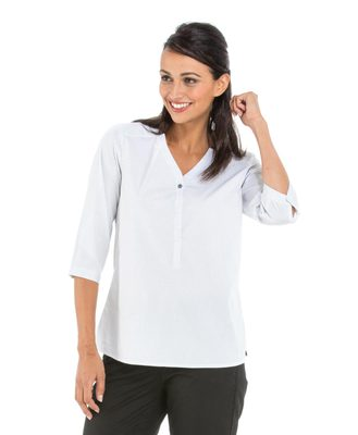 Chemise manches longues femme blanche - Mode marine Femme