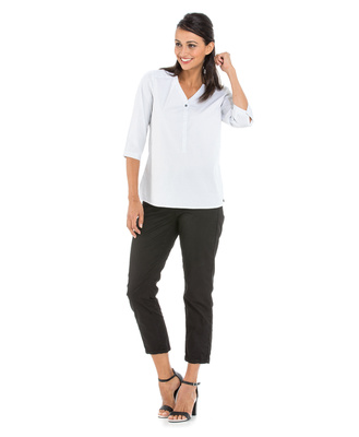 Chemise manches longues femme blanche_1