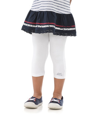 Legging court enfant fille blanc - Mode marine Enfant fille