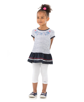 Legging court enfant fille blanc_1