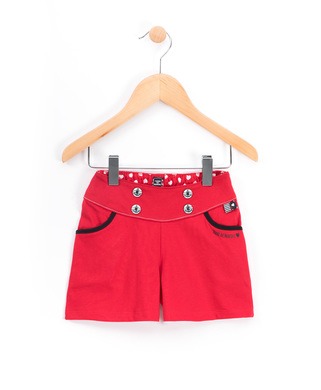Short fille Rouge  - Mode marine Enfant