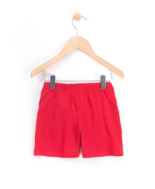 Short enfant fille rouge madder_1