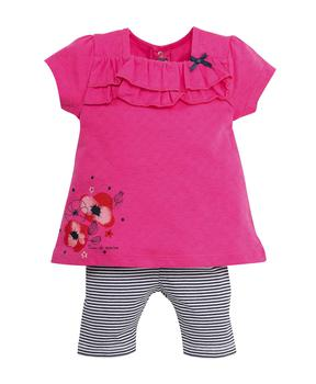 Tunique + leggings bébé fille rose persan - Mode marine Bébé fille