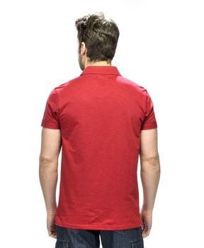 Polo homme rouge piment_1