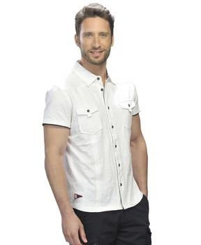 Chemise homme à manches courtes blanche - Mode marine Homme