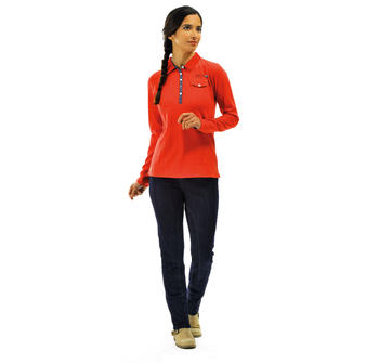 Polo femme rouge_1