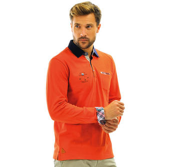 Polo homme orange  - Mode marine Homme