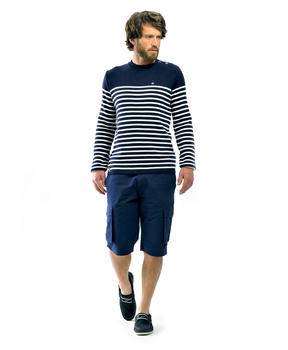 Pull marinière homme marine - Mode marine Homme