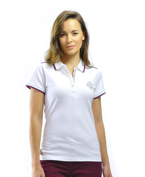 Polo manches femme blanc - Mode marine Femme