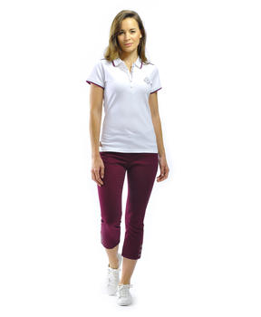 Polo manches femme blanc_1