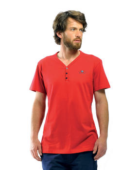 Tee-shirt homme rouge piment - Mode marine Homme