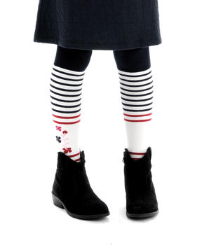 Collant enfant fille rayé - Mode marine Enfant fille