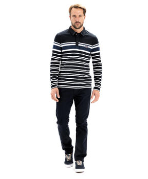Polo manches longues homme rayé_1