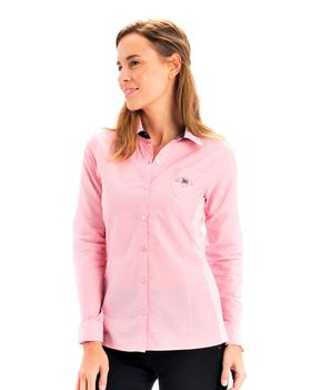 Chemise manches longues femme rose clair - Mode marine Femme