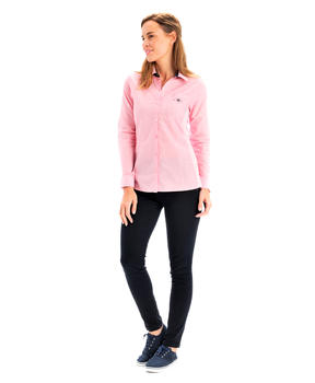 Chemise manches longues femme rose clair_1