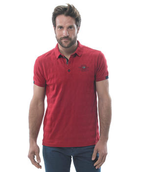 Polo manches courtes homme piment - Mode marine Homme