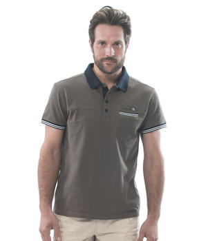 Polo manches courtes homme vert laurier - Mode marine Homme