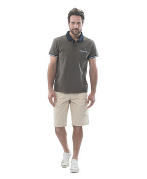 Polo manches courtes homme vert laurier_1