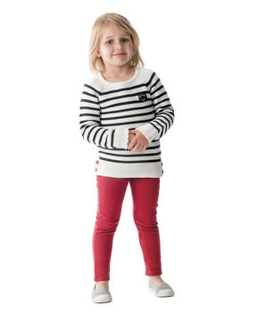 Legging long enfant fille rouge pimenté_1