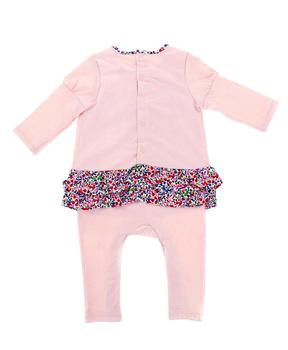 Combilong bébé fille rose pale_1