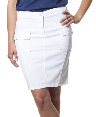 Jupe courte femme Blanche - Mode marine Promotions